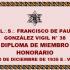 DOCUMENTO HISTÓRICO – 20 DE DICIEMBRE DE 1935 E:.V:. – R:.L:.S:. FRANCISCO DE PAULA GONZÁLEZ VIGIL N° 38 DE TACNA – DIPLOMA DE MIEMBRO HONORARIO