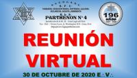 30 DE OCTUBRE DE 2020 E:.V:. – REUNIÓN VIRTUAL