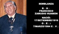 SEMBLANZA – R:.H:. FRANCISCO ZAMUDIO HUAMÁN – MIEMBRO HONORARIO