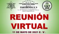 11 DE MAYO DE 2021 E:.V:. – REUNIÓN VIRTUAL